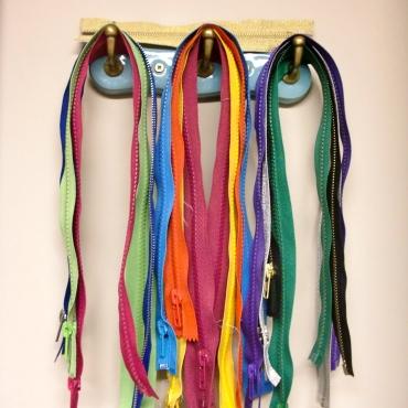Zippers on coat hooks!