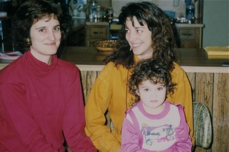 Marian, Pam, Laura, 1990
